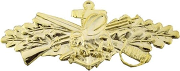 Seabees Combat Service Badge Gold Large Pin