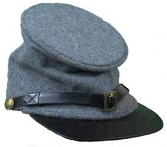 Civil War Confederate Grey Forage Cap