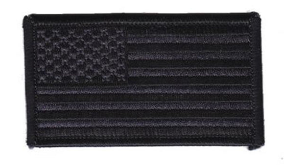 American Flag Patch FORWARD Facing - BLACK on BLACK