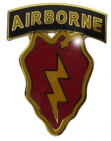 25th Infantry Division CSIB with AIRBORNE Tab CSIB - Army Combat Service Identification Badge