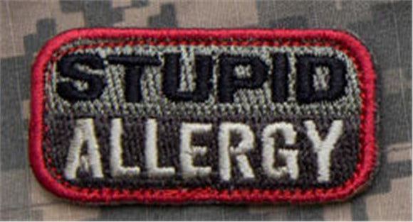 STUPID ALLERGY Patch - FOLIAGE GREEN