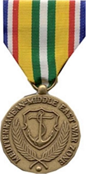 Merchant Marine Mediterranean Middle East War Zone Medal