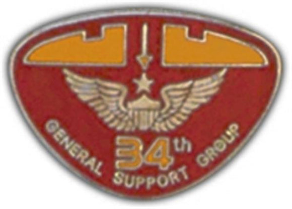 34th Gen. Support Small Hat Pin