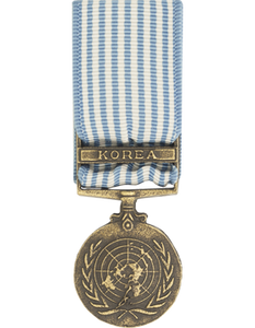 United Nations Service Korea Mini Medal