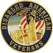 Disabled American Veterans Pin  - Size 7/8 inch