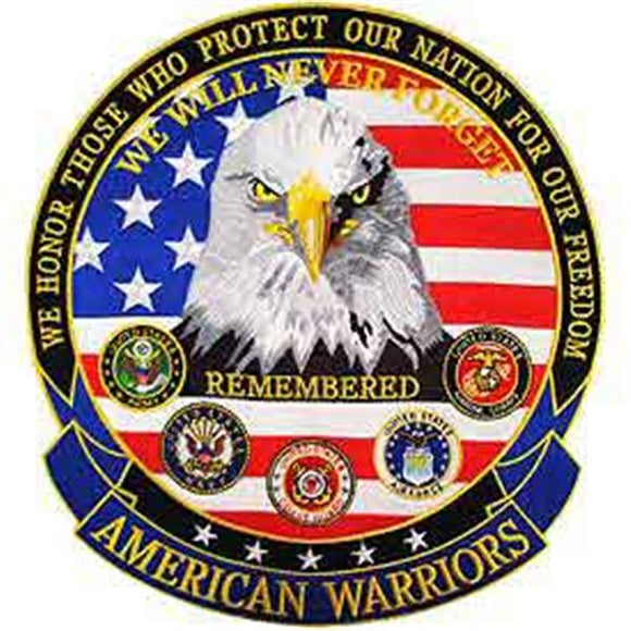 American Warriors 12 inch Back Patch