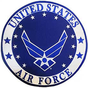 USAF US Air Force Star Round Logo 12 inch Patch