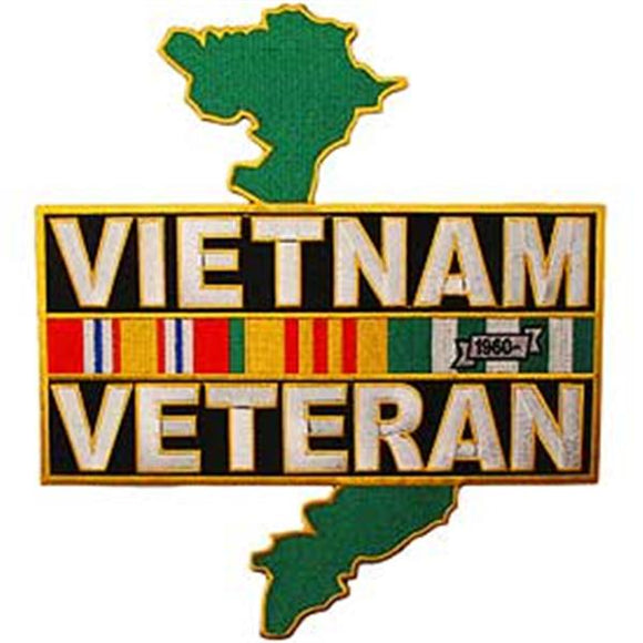 Vietnam Veteran Service Ribbon - Country 12 inch Patch