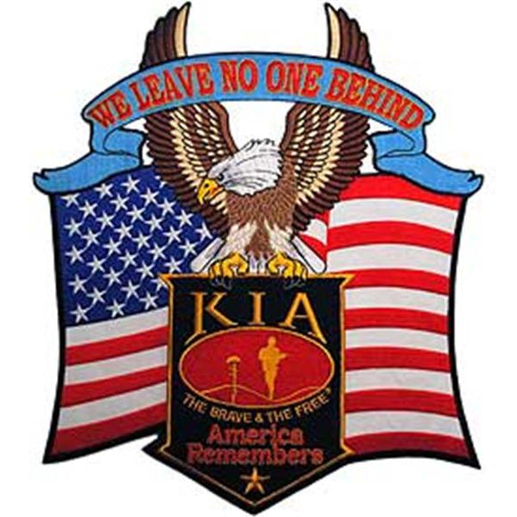 KIA We Leave No One Behind 12 inch Patch