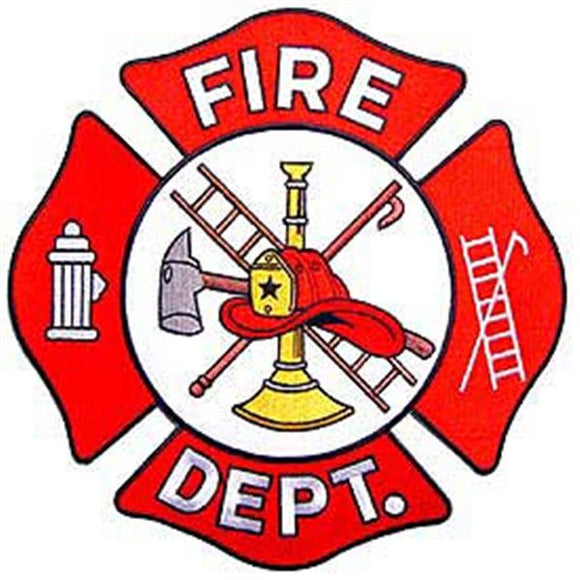 Fire Department Large 10 inch Patch