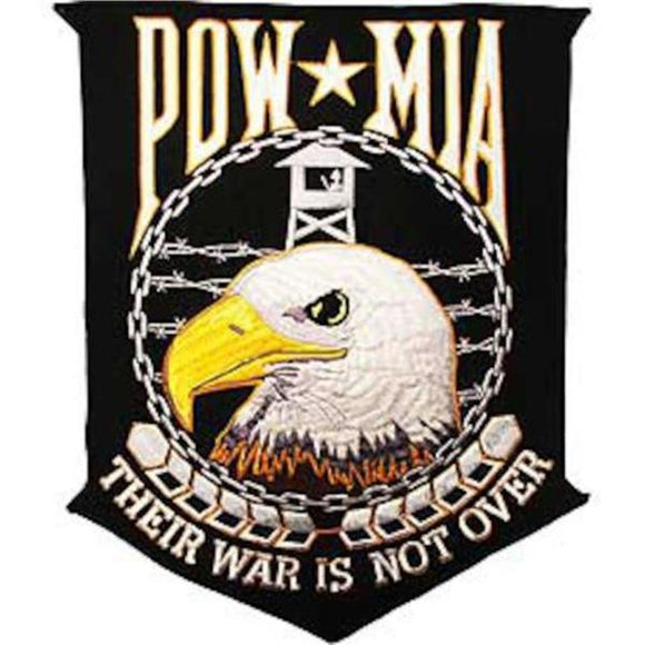 POW MIA Their War is Not Over 12 inch Patch