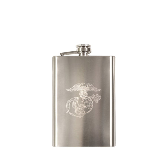 Rothco Engraved Stainless Steel Marines Flask