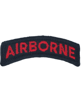 Airborne Tab BLACK and RED for Army Dress Uniform