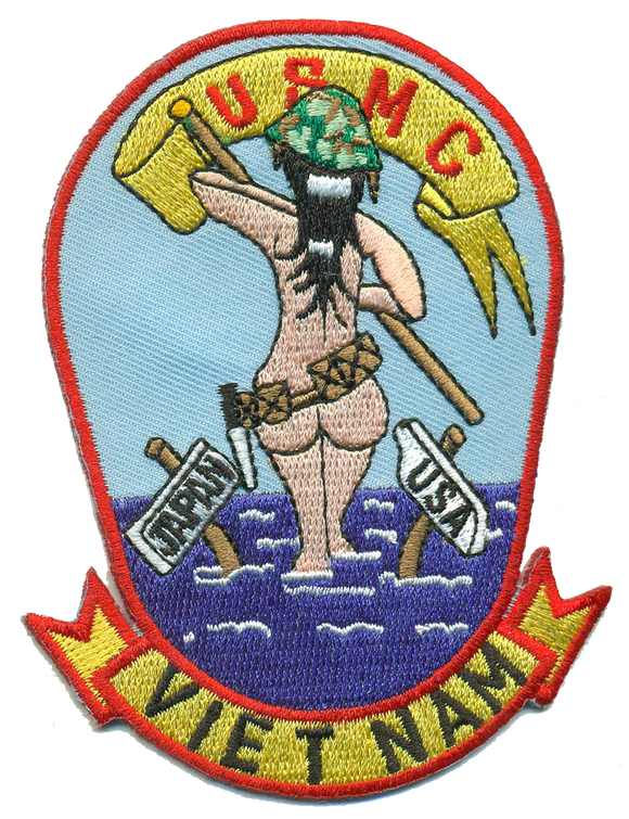 Vietnam Girl Japan-USA USMC Patch