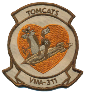 VMA-311 Tomcats USMC Patch - Desert Fixed Wing Squadron Patch