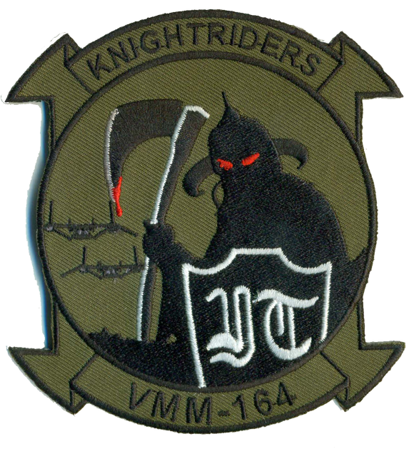 VMM-164 Knightriders with MV-22s USMC Patch