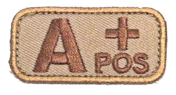 A POSITIVE Blood Type Patch - DESERT