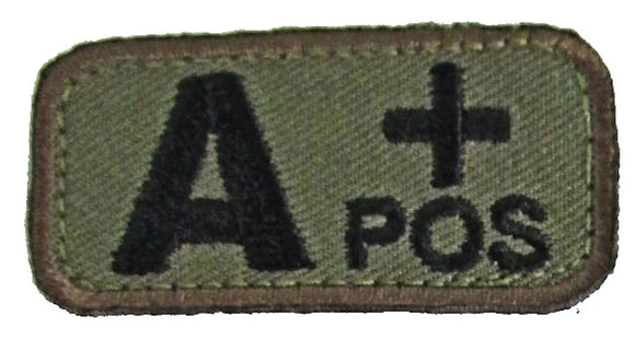 A POSITIVE Blood Type Patch - WOODLAND