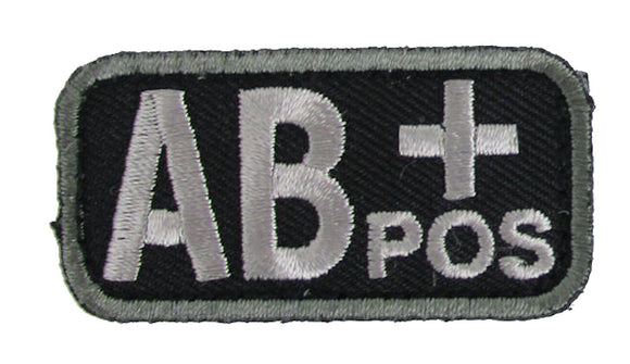 AB POSITIVE Blood Type Patch - BLACK