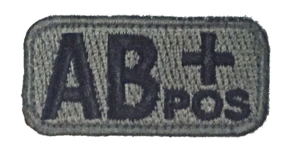 AB POSITIVE Blood Type Patch - FOLIAGE GREEN