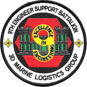 9th Engineer Support Battalion 3rd Marine Logistics Group USMC Patch