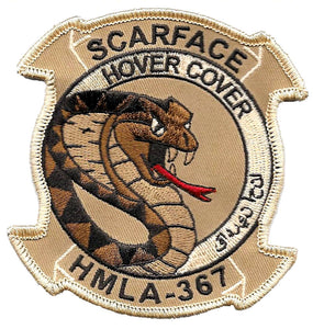 HMLA-367 Scarface USMC Patch