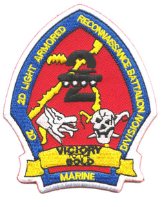 2nd LAR BN 2nd MARDIV Victory To The Bold USMC Patch