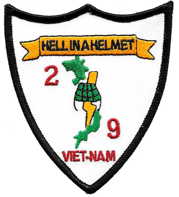 2nd Battalion 9th Marines Hell In A Helmet Vietnam USMC Patch