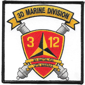3rd Battalion 12th Marines USMC Patch