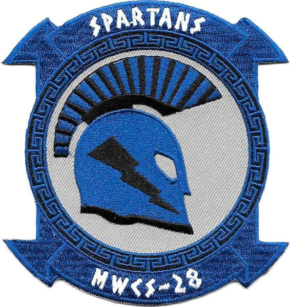 MWCS-28 SPARTANS Marine Wing Communications Squadron USMC Patch
