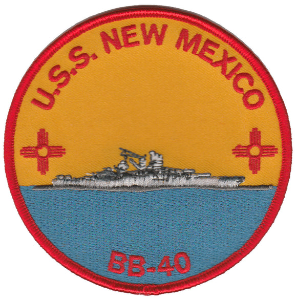 U.S.S. New Mexico BB-40 USMC Patch