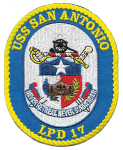 U.S.S. San Antonio LPD-17 USMC Patch