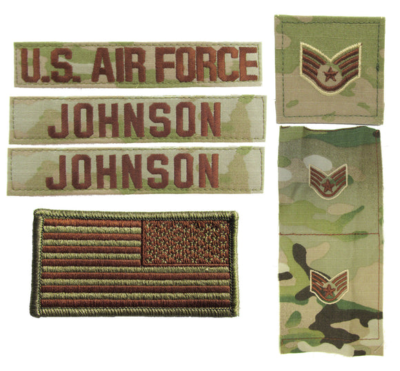 Air Force OCP Name Tape and Rank - Package Deal