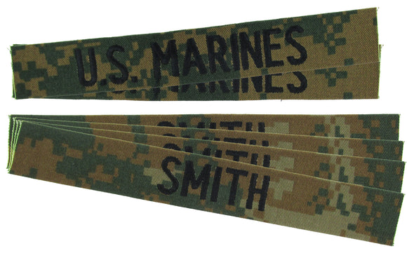 MCCUU USMC Name Tape Package - MARPAT Woodland Digital