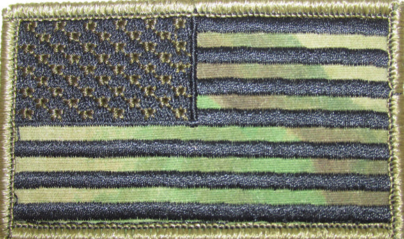 A-TACS American Flag Patch FORWARD and REVERSE Facing