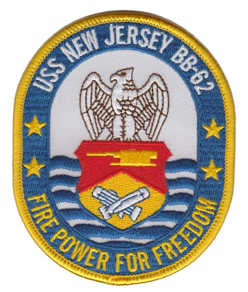BB-62 U.S.S. New Jersey USMC Patch