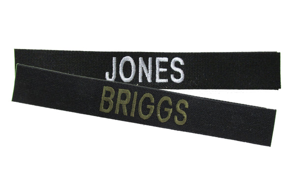 Cotton Webbing Black Name Tape - SEW ON