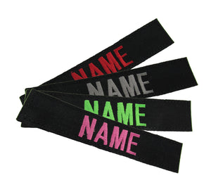 Black Name Tape with Hook Fastener - Fabric Material