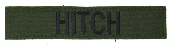 Olive Drab Name Tape with Hook Fastener - Fabric Material