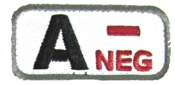 A NEGATIVE Blood Type Patch - MEDICAL