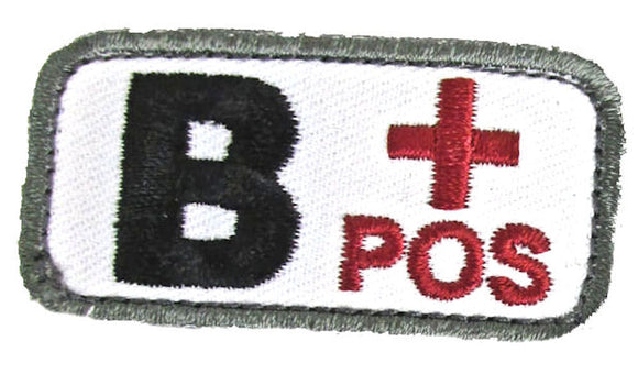 B POSITIVE Blood Type Patch - MEDICAL