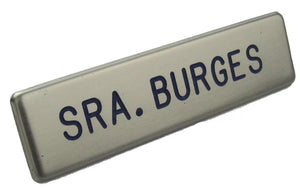 U.S. Air Force Service Dress Brushed Steel Name Tag