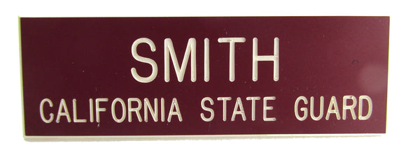 California State Guard Name Plate