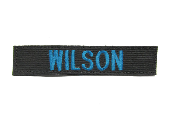 Charcoal Gray Name Tape