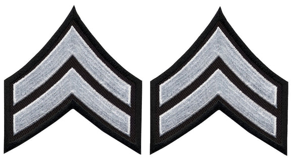 Corporal Chevrons - White on Black