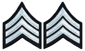 Sergeant Chevrons - White on Black
