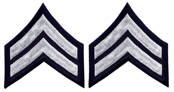 Corporal Chevrons - White on Navy