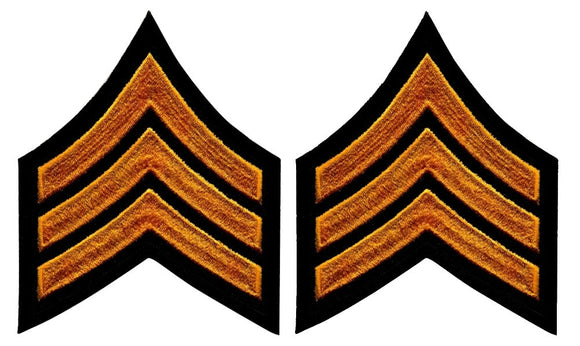 Sergeant Chevrons - Summer Gold on Black