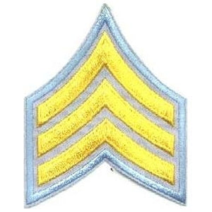 Sergeant Chevrons - Medium Gold on Light Blue