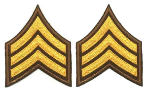 Sergeant Chevrons - Dark Gold on Brown